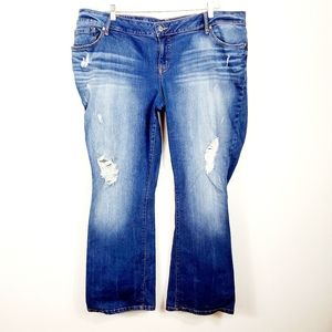 TORRID RELAXED BOOT DISTRESSED DENIM JEANS